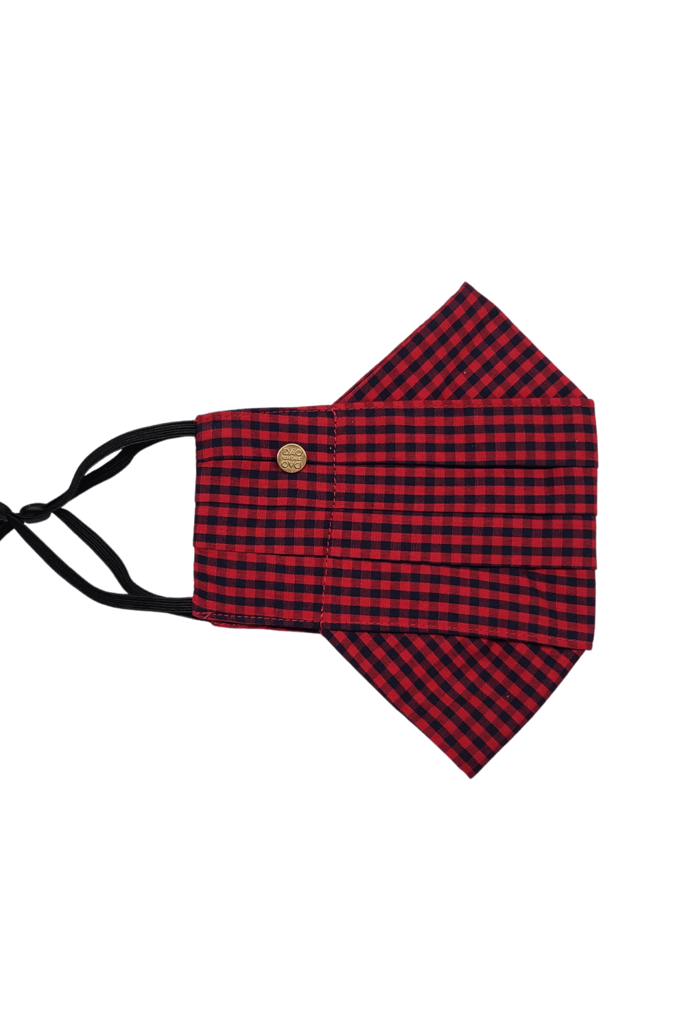 Safely Sip Face Mask Safely Sip Mask in Red and Black Gingham - Chloe Dao