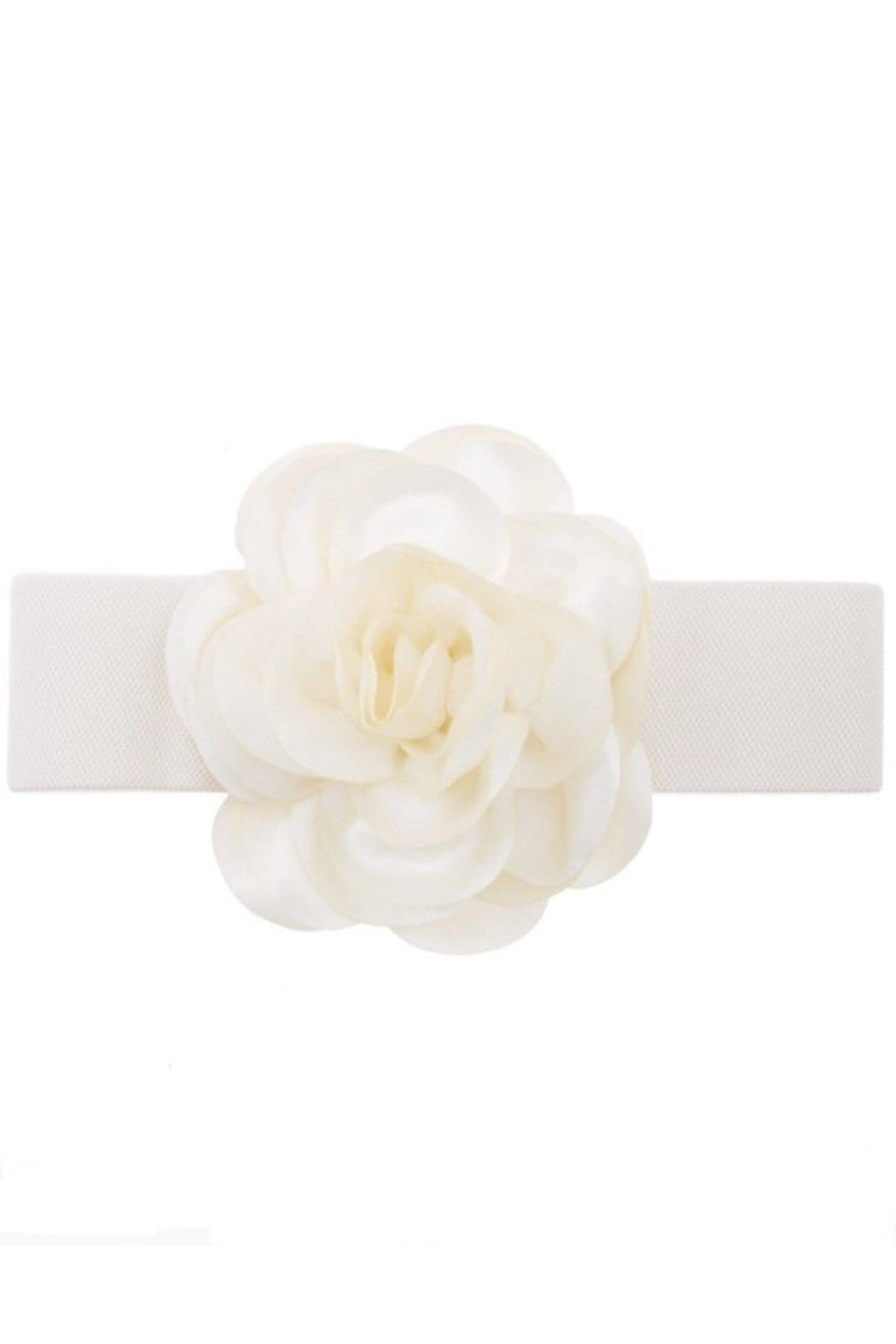 BELT Chiffon Flower Belt Ivory - Chloe Dao