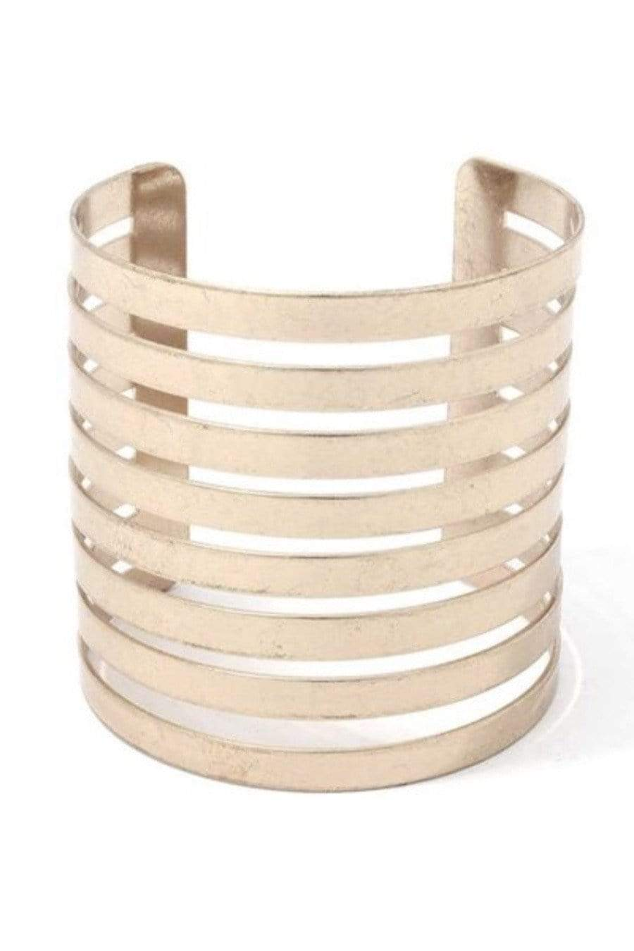 Statement Wrapped Lines Cuff Gold