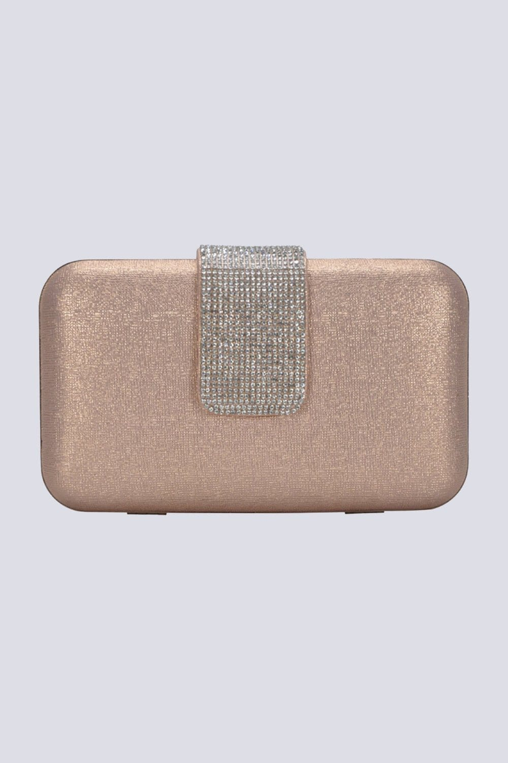 Fancy Buckle Clutch Rose Gold