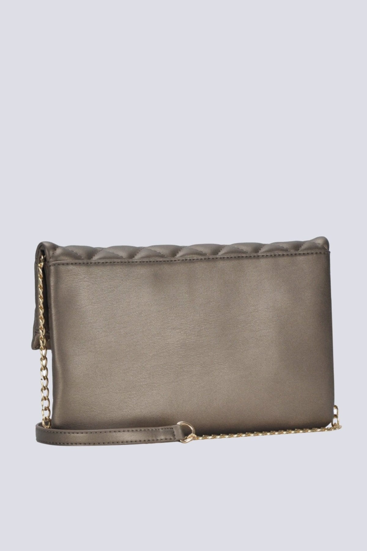 CLUTCH Quilted Studded Clutch in Pewter - Chloe Dao