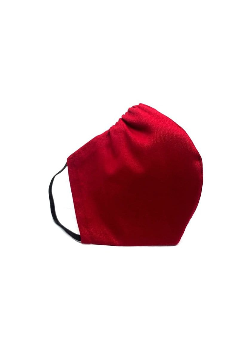 Crimson Red Cotton Face Mask. Elastic ear loops , nose wire. Made in Houston.