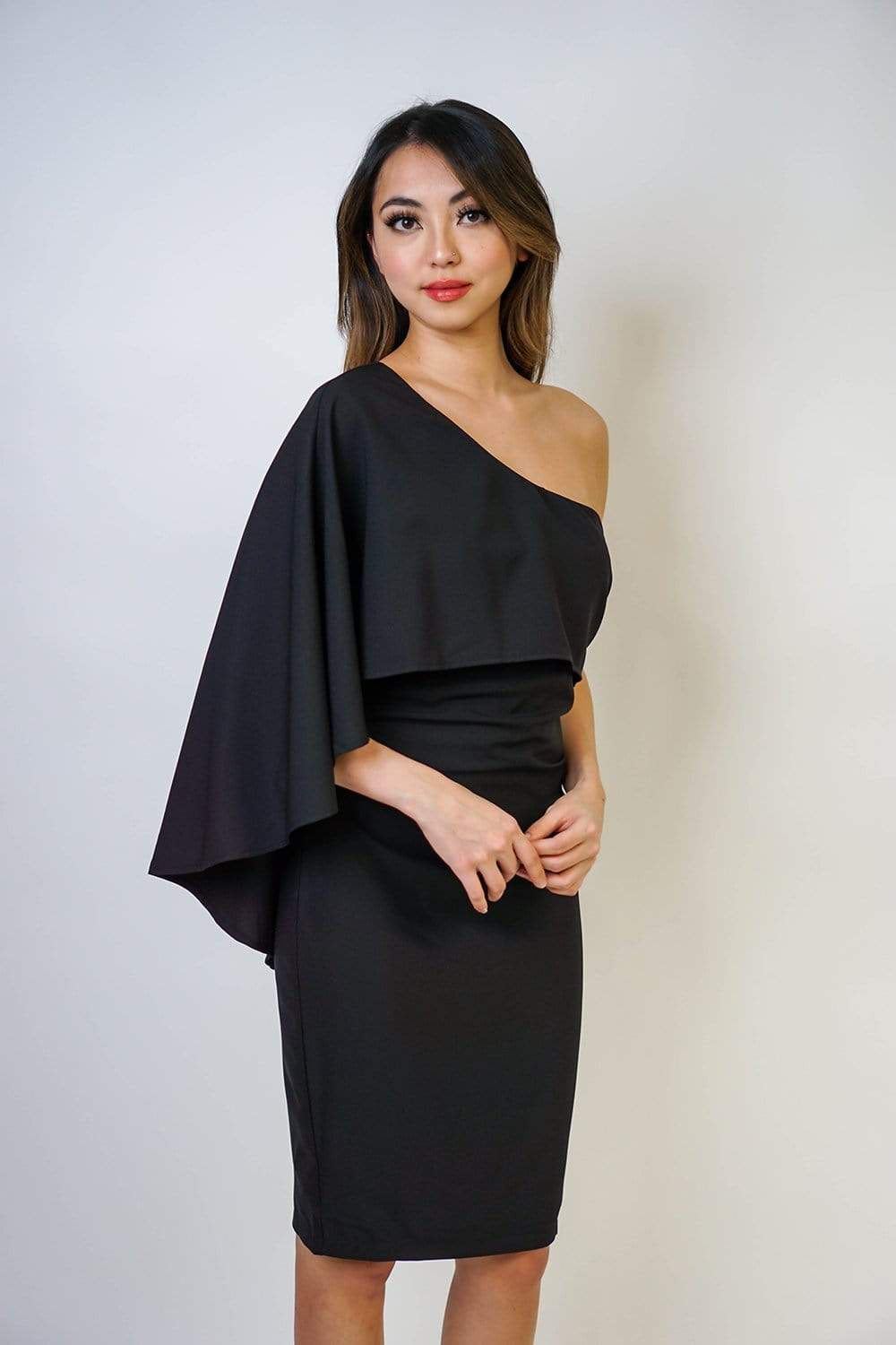 DRESS Dramatic One Shoulder Dress - Chloe Dao