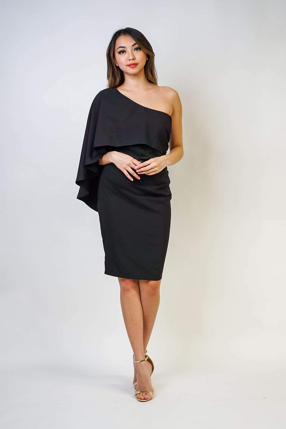 Strut & Bolt SBT DRESS Dramatic One Shoulder Dress