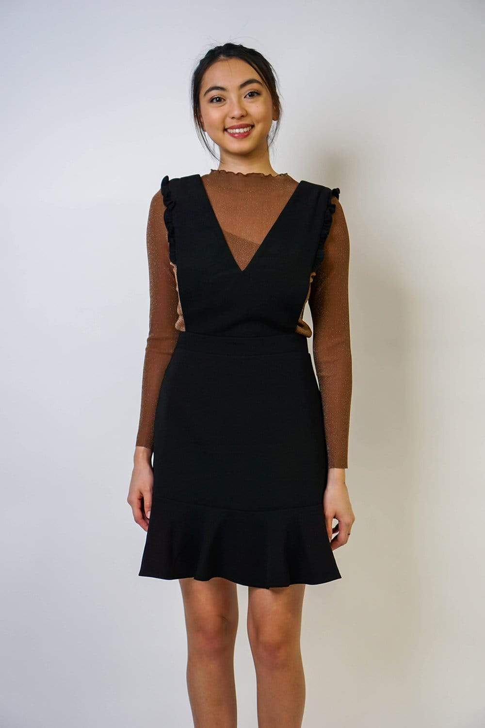 Dress Overlay Apron Black Dress - Chloe Dao