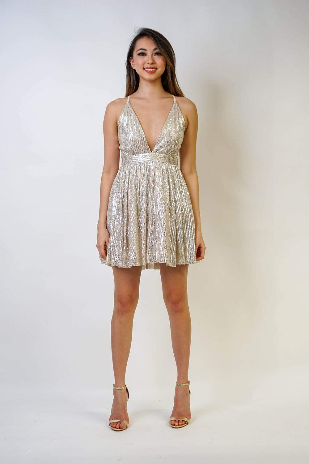 DRESS Sparkle Sequins Tutu Mini Dress - Chloe Dao