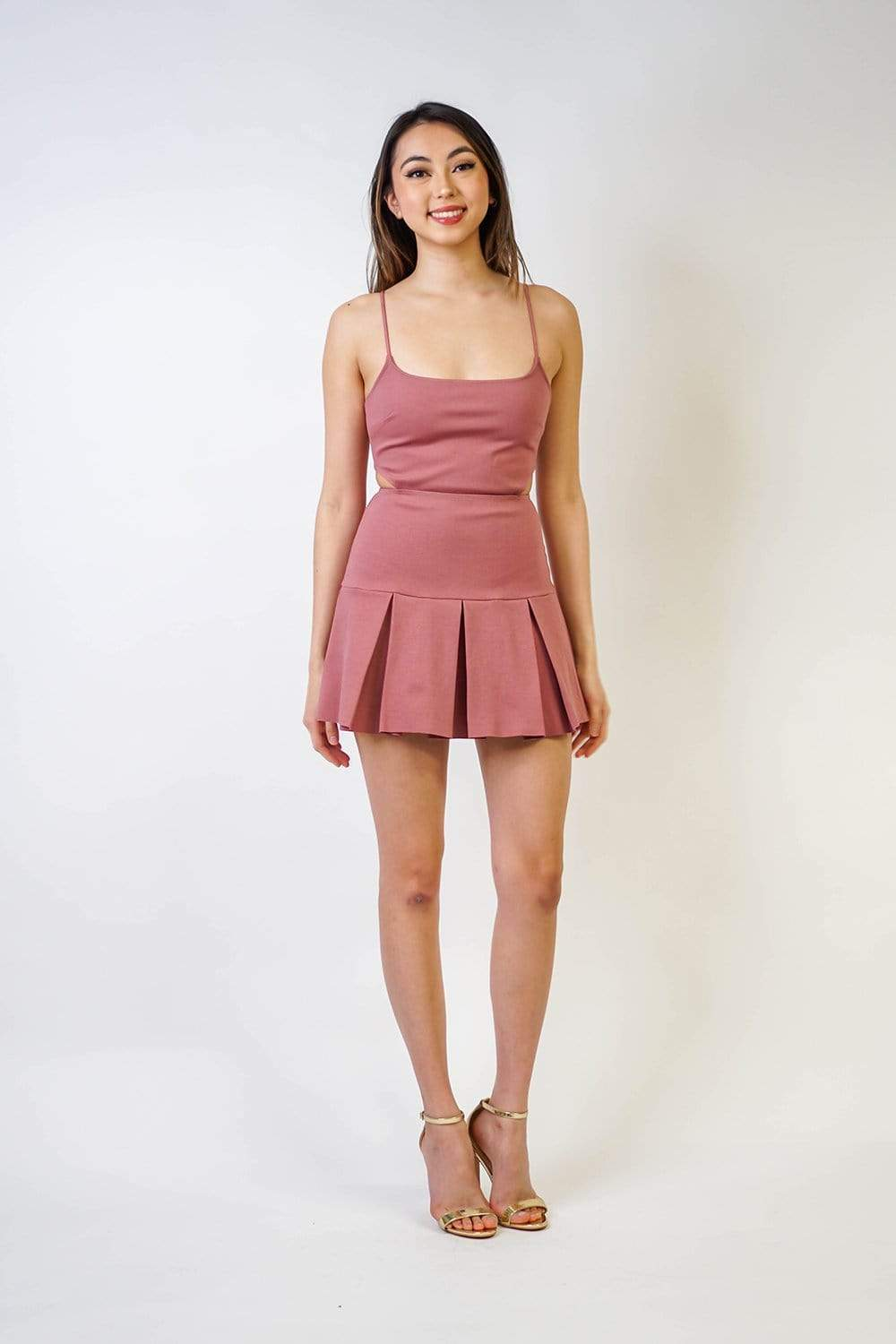 DRESS Square Neck Tennis Skirt Dress - Chloe Dao
