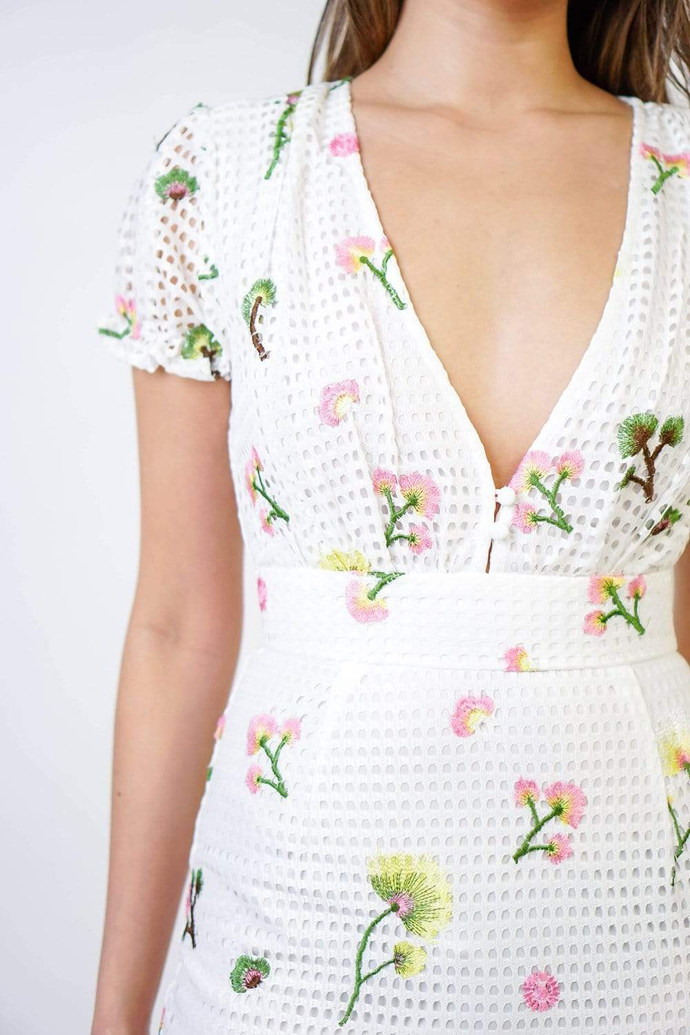 DRESS Sweet Floral Embroidered Dress - Chloe Dao