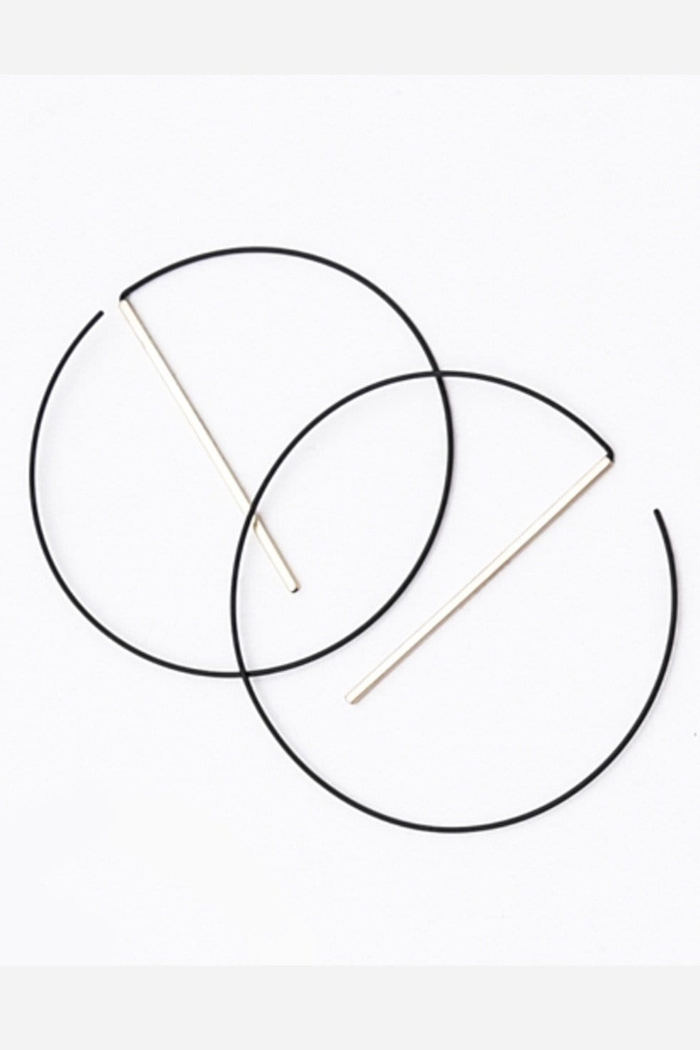 Float Hoops Black Gold