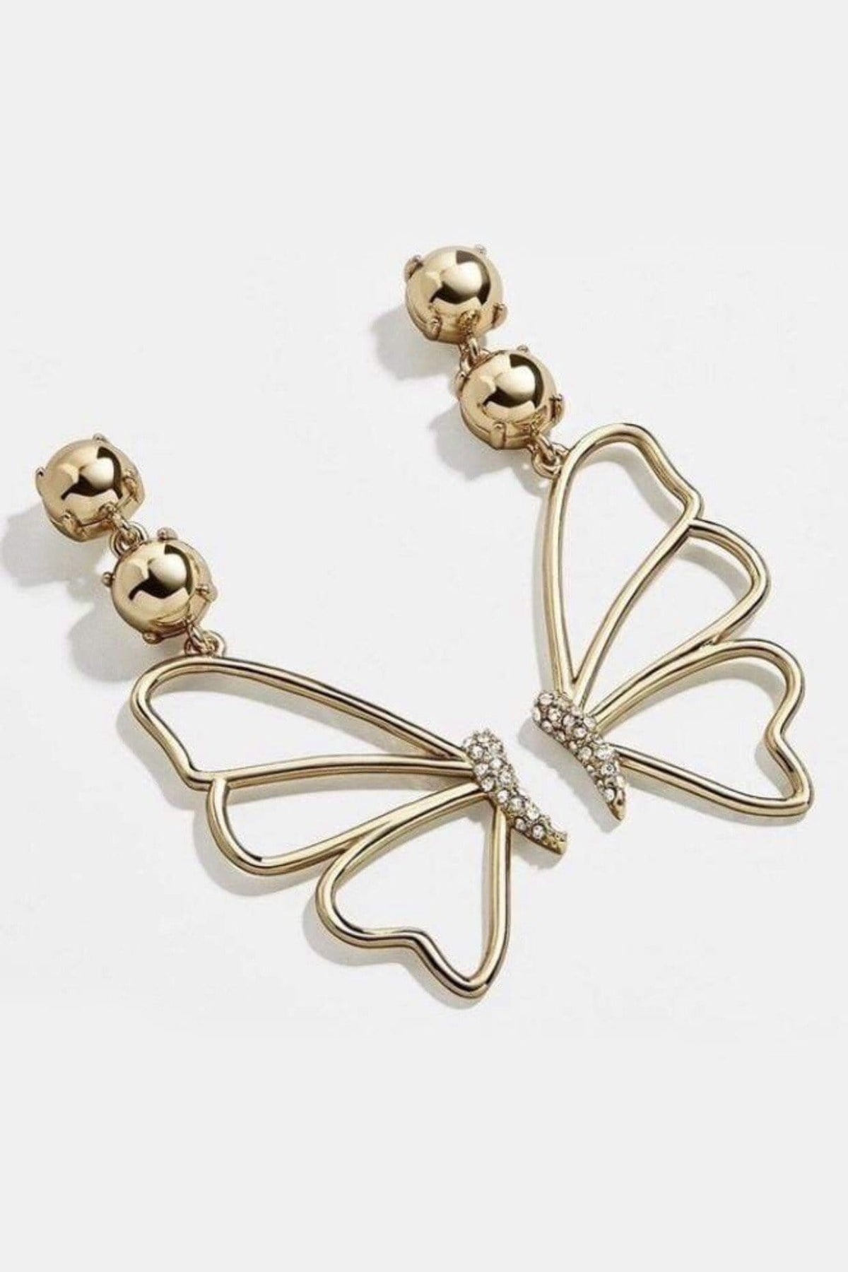 EARRING Gold Butterfly Wings Earrings - Chloe Dao