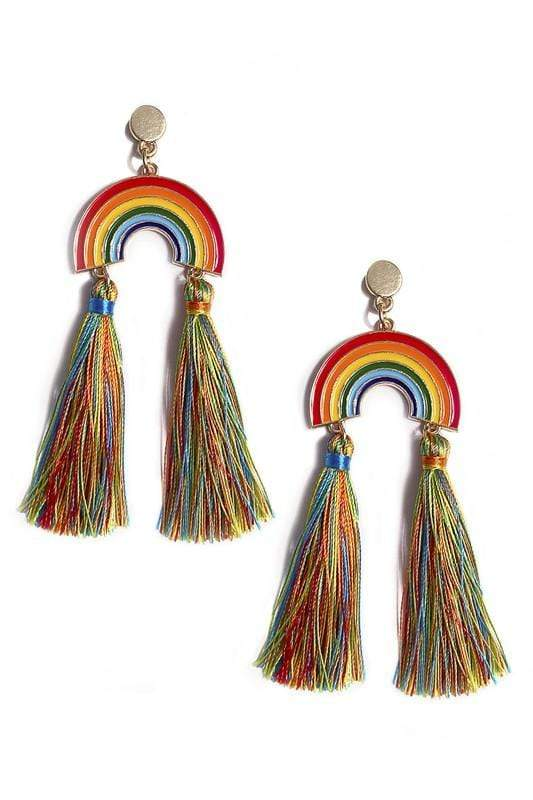 EARRING Rainbow Tassel Earrings - Chloe Dao