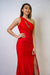 GOWN Fitted Red Hot Gown - Chloe Dao