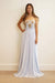 GOWN Gold Applique Strapless Aqua Fit and Flared Gown - Chloe Dao