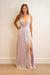 GOWN Lavender Sequins Low V Side gown - Chloe Dao