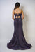 GOWN Midnight Muted Glitter Fitted Gown - Chloe Dao