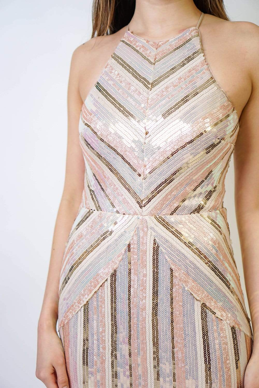GOWN Sequin Panelled Column Gown - Chloe Dao