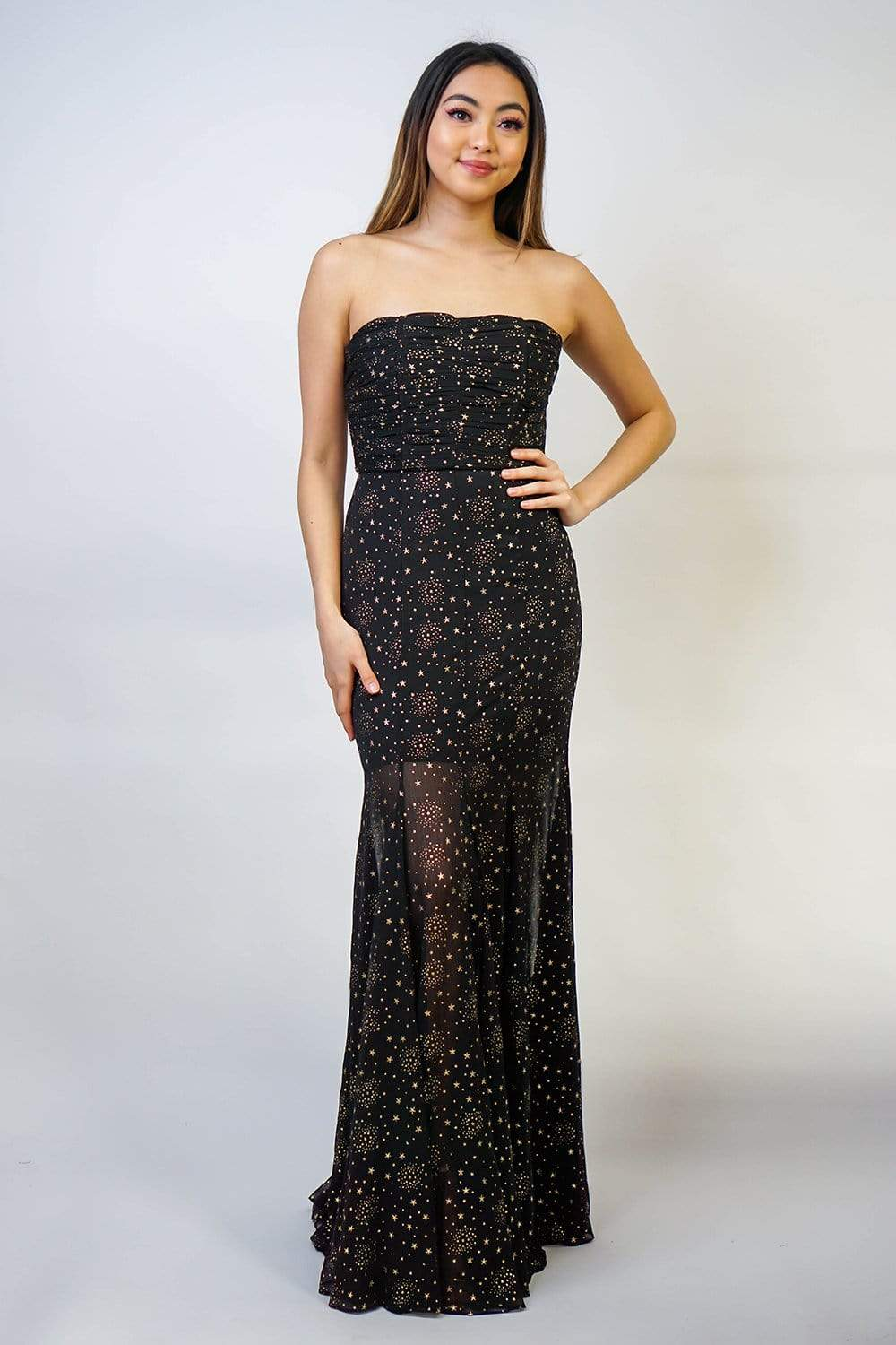 GOWN Strapless Starry Night Gown - Chloe Dao