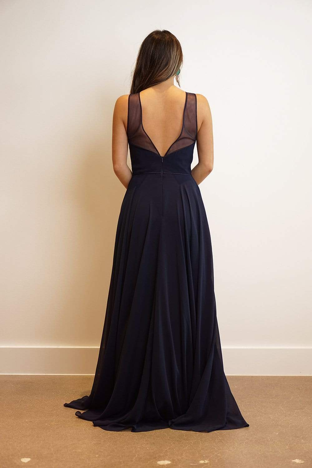GOWN Sweetheart Bustier with Sheer Neck Netting Fit and Flare Gown - Chloe Dao