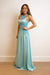 GOWN Pointed Halter Illusion Cut OutFitted Gown - Chloe Dao