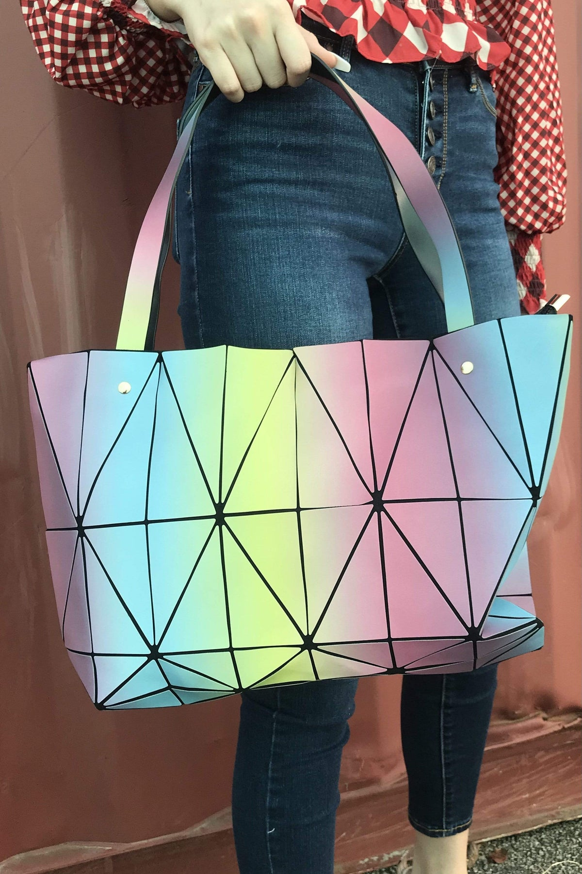 Icco HANDBAG Pastel Multi Large Cool Hexa Tote