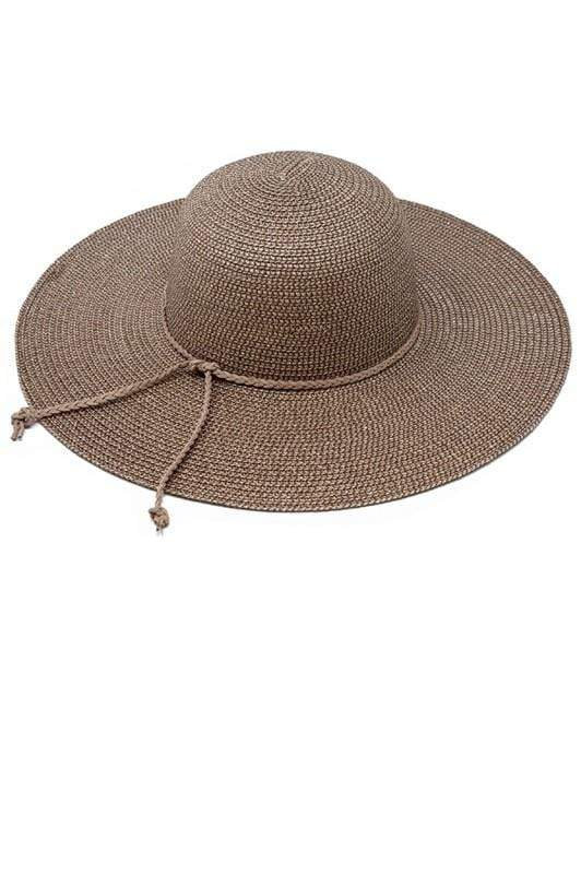 HAT Braided Suede Band Hat Chocolate - Chloe Dao