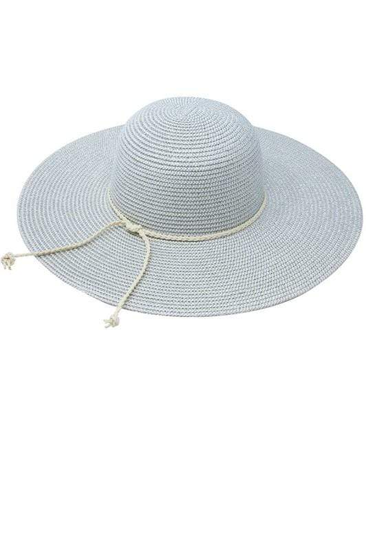 HAT Braided Suede Band Hat Silver - Chloe Dao
