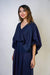 Chloe Dao Navy Baloon Sleeves Mina Top