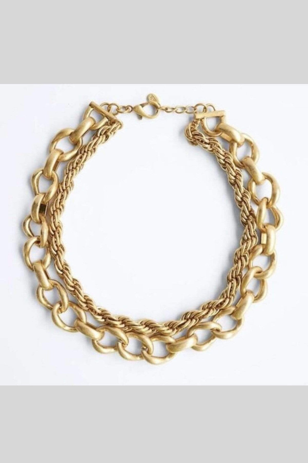 NECKLACE Gold Layered Collar Necklace - Chloe Dao