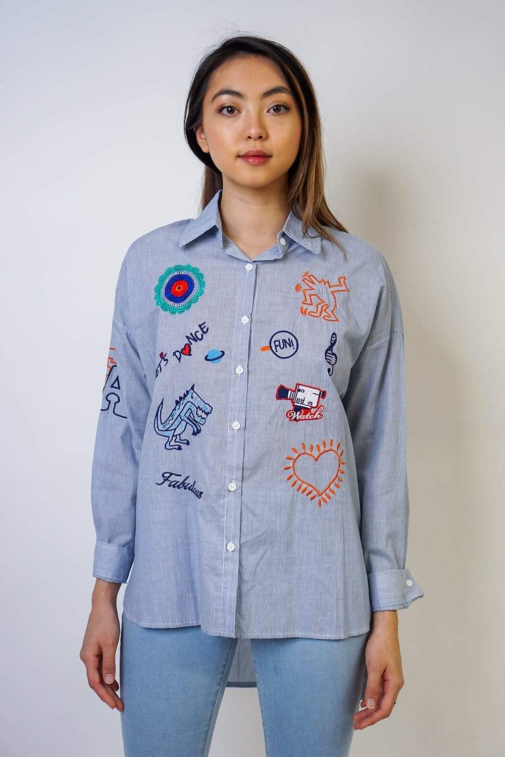 Bespoke Button Up Shirt Blue