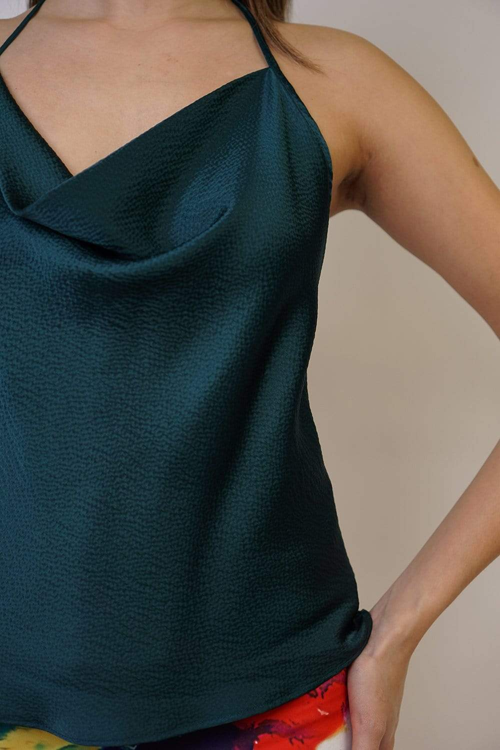 TOP Colina Silk Teal - Chloe Dao