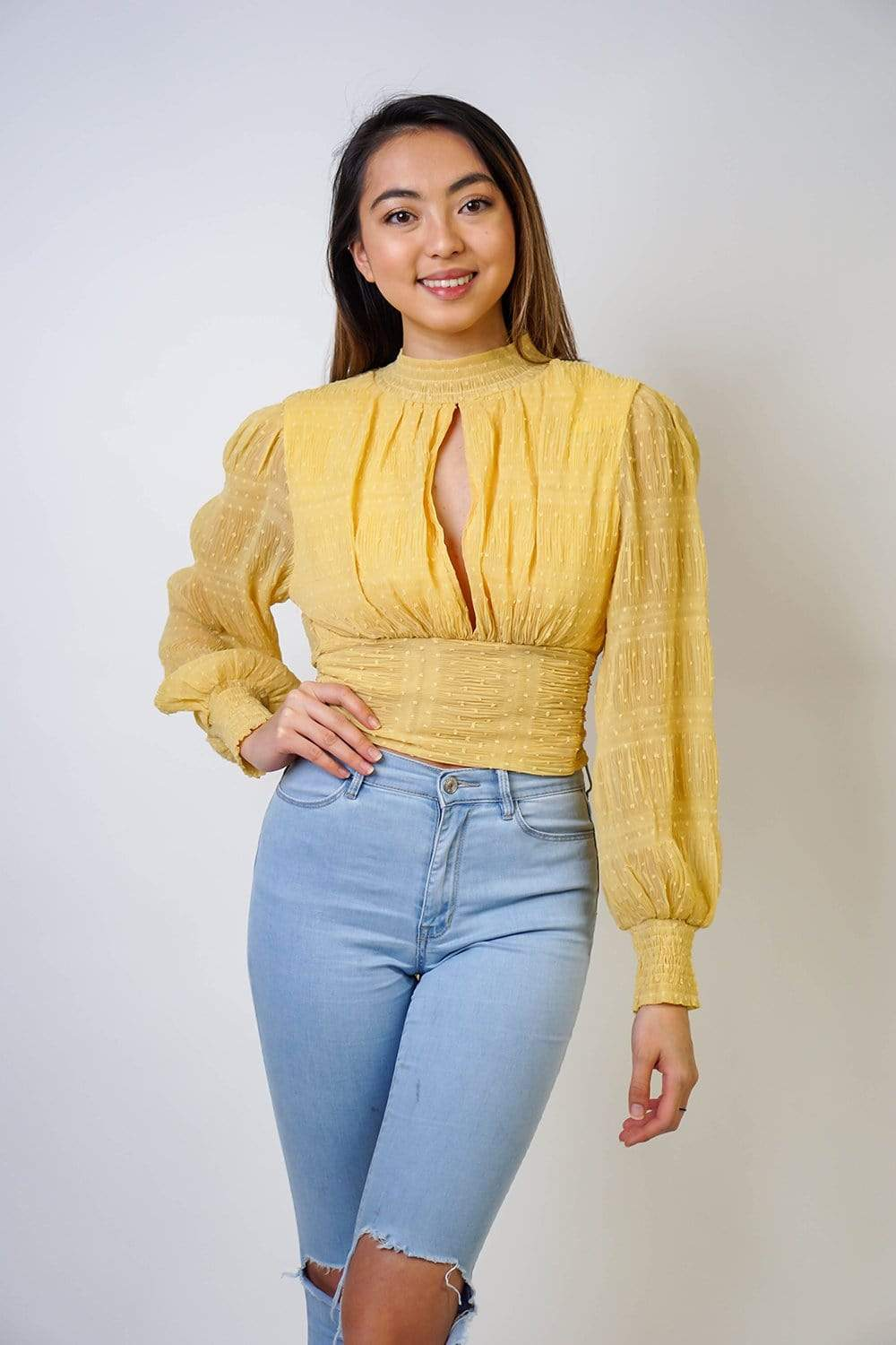 Goddess Blouse Yellow