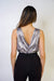 TOP Simple Elegant Crossover Bodysuit - Chloe Dao