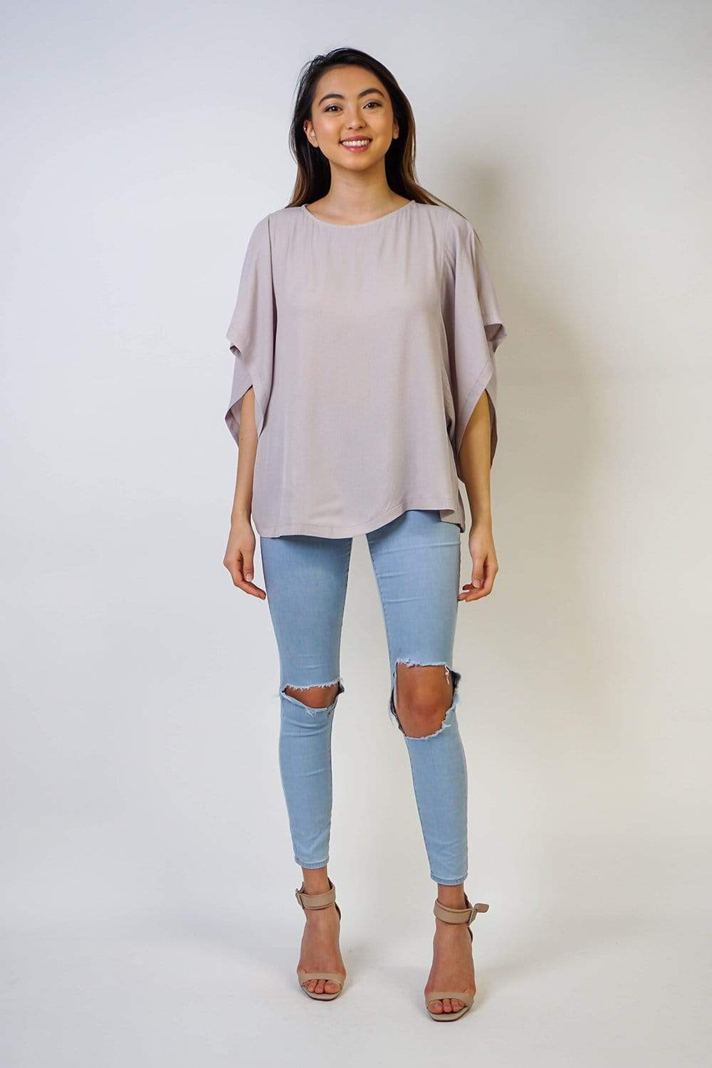 Cape Sleeve Top