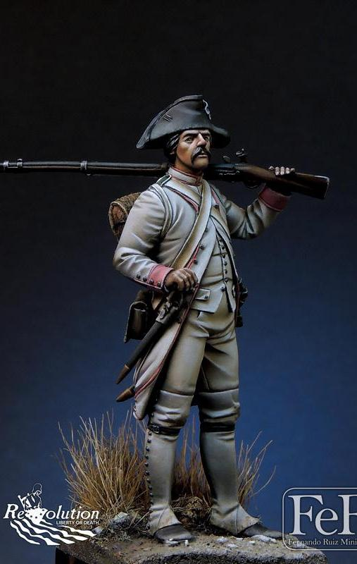 French Chasseur 34 eme Reg. Touraine Yorktown, 1779
