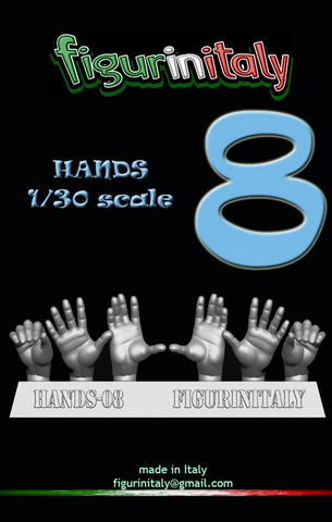 Hands Set No 8 - 1/30 Scale
