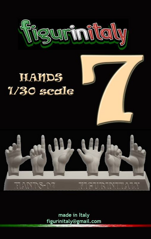 Hands Set No 7 - 1/30 Scale
