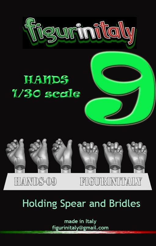 Hands Set No 9 - 1/30 Scale