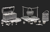 Accessories for 9th-11th cent, figures