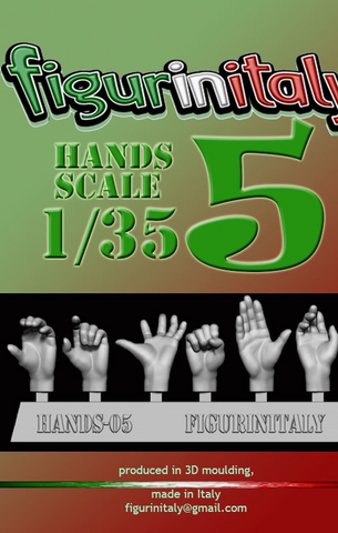Hands Set No 5 - 1/35 Scale