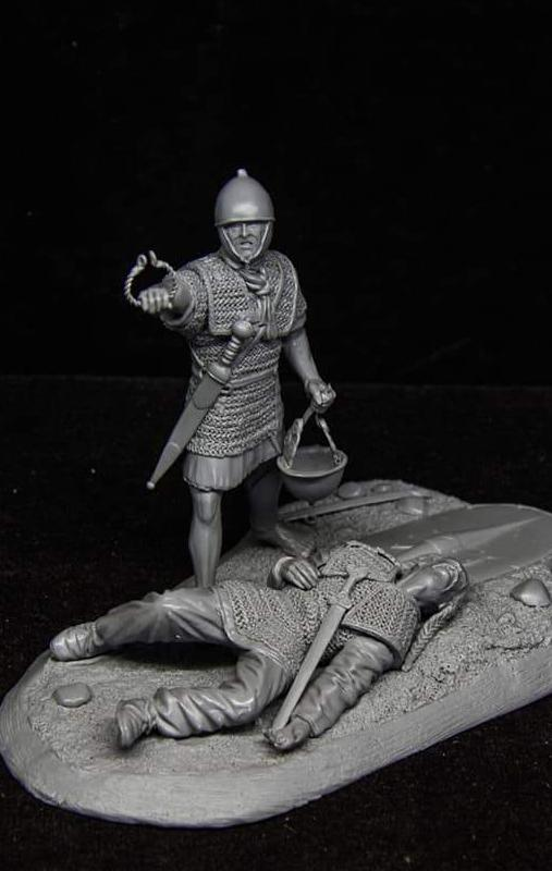 Rep Roman legionary over fallen Gaul