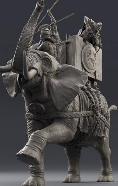 Carthaginian War Elephant - 75mm