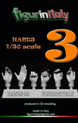 Hands Set No 3 - 1/30 Scale