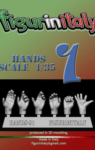 Hands Set No 1 - 1/35 Scale