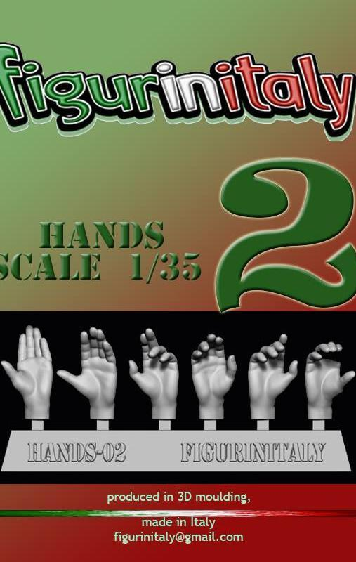 Hands Set No 2 - 1/35 Scale