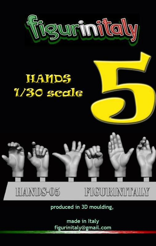 Hands Set No 5 - 1/30 Scale