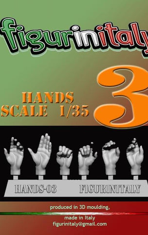 Hands Set No 3 - 1/35 Scale