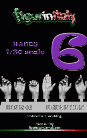 Hands Set No 6 - 1/30 Scale