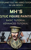 MH`s Acrylic Figure painting tutorial movie in USB