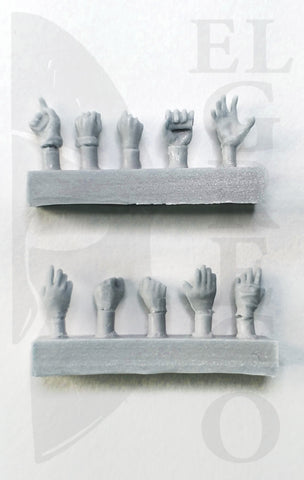 Hands - Set 1 - 54mm
