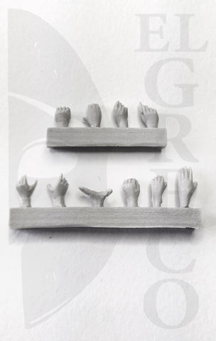 Hands - Set 2 - 54mm